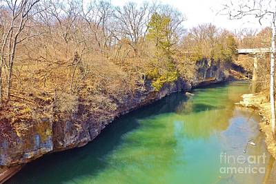 Photograph - Kankakee River Fishing Spot by Brigitte Emme