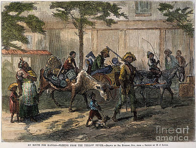 Reconstruction Photograph - Kansas: Black Emigrants by Granger
