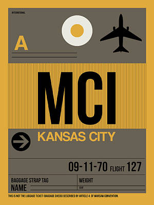 Kansas City Digital Art - Kansas City Airport Poster 1 by Naxart Studio