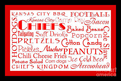 Kansas City Digital Art - Kansas City Chiefs Game Day Food 2 by Andee Design