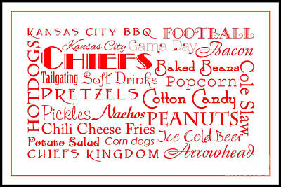 Kansas City Digital Art - Kansas City Chiefs Game Day Food 3 by Andee Design