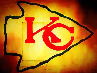 Photograph - Kansas City Chiefs Graffiti  by Chris Berry