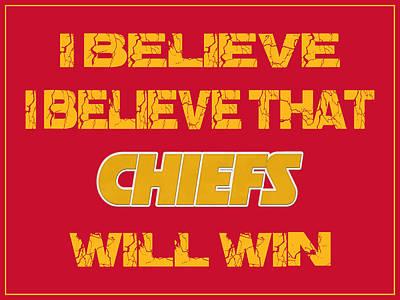 I Phone Covers Photograph - Kansas City Chiefs I Believe by Joe Hamilton