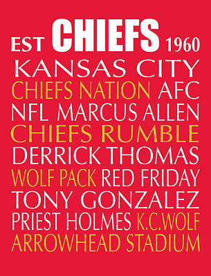 Subway Art Digital Art - Kansas City Chiefs by Jaime Friedman