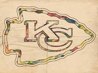 Painting - Kansas City Chiefs Poster Vintage by Florian Rodarte