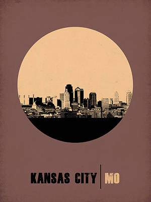 Nostalgic Digital Art - Kansas City Circle Poster 2 by Naxart Studio