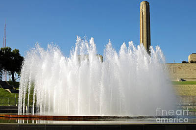 Photograph - Kansas City Fountain 1 by Andee Design