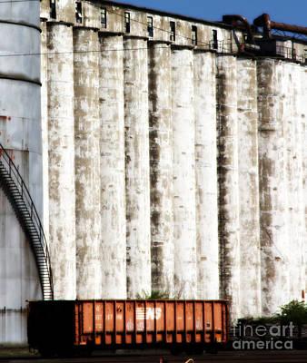 Photograph - Kansas City Grain Elevator by A K Dayton