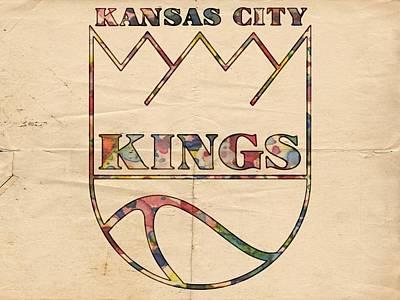 Painting - Kansas City Kings Retro Poster by Florian Rodarte