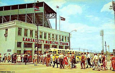 Painting - Kansas City Municipal Stadium In The 1950's by Dwight Goss