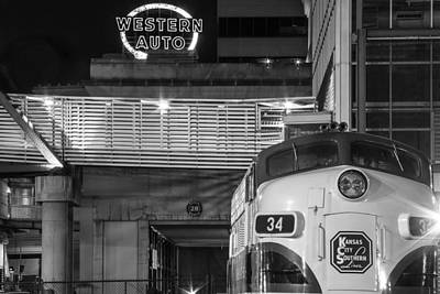 Kansas City Night Train Art Print
