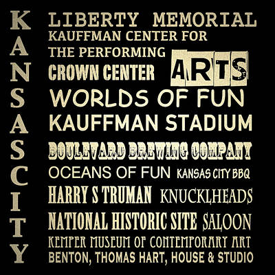 Kansas City Famous Landmarks Art Print
