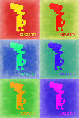 Kansas City Painting - Kansas City Pop Art 1 by Naxart Studio