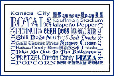 Digital Art - Kansas City Royals Game Day Food 3 by Andee Design