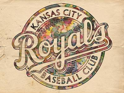 Bat Digital Art - Kansas City Royals Logo Vintage by Florian Rodarte