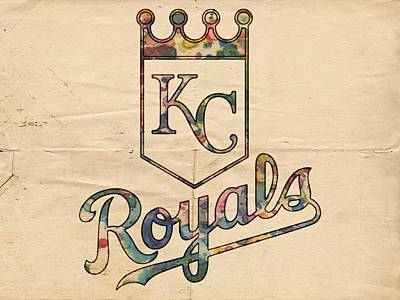Bat Digital Art - Kansas City Royals Poster Vintage by Florian Rodarte