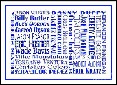 Digital Art - Kansas City Royals The Boys In Blue 2014 by Andee Design