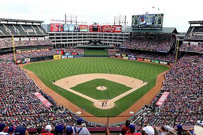 Photograph - Kansas City Royals V Texas Rangers by Rick Yeatts