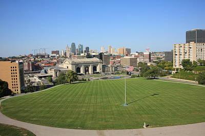 Kansas City Skyline And Park Art Print