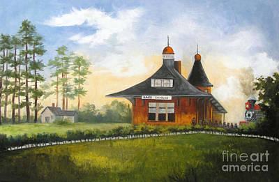 Painting - Kansas City Station Depot Lake Charles by Barbara Haviland