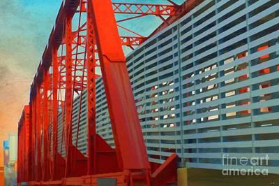 Kansas City Train Bridge - Pencoyd Railroad Bridge  Art Print