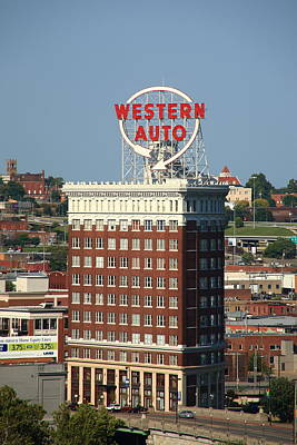 Kansas City - Western Auto Building 2 Art Print by Frank Romeo