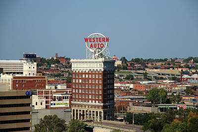 Kansas City - Western Auto Building Art Print by Frank Romeo
