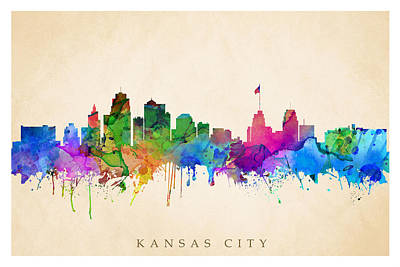 Digital Art - Kansas Cityscape by Steve Will