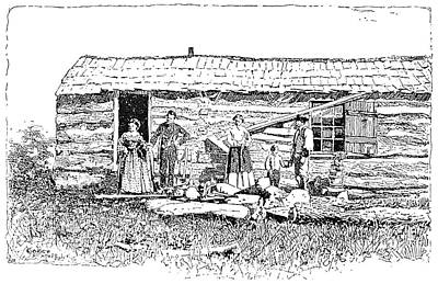 Kansas Early House, 1854 Art Print by Granger
