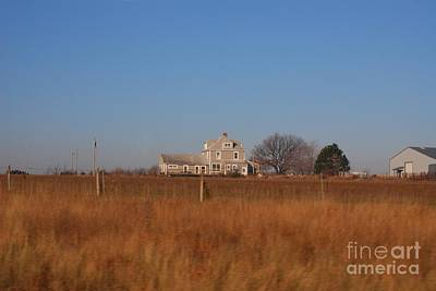 Photograph - Kansas Farm House by Mark McReynolds
