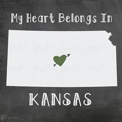 Kansas Painting - Kansas by Jo Moulton
