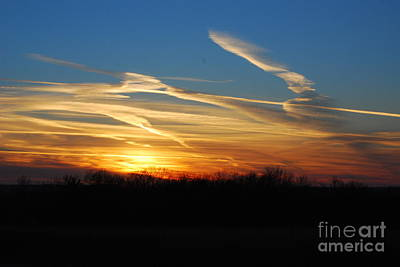Photograph - Kansas November Sunset by Mark McReynolds