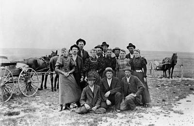 1880s Photograph - Kansas Pioneers by Granger