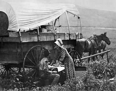 Pioneer Woman Painting - Kansas Prairie Couple by Granger