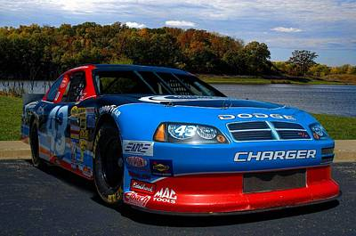 Photograph - Kansas Speedway Richard Petty Driving Experience Dodge Charger Race Car by Tim McCullough