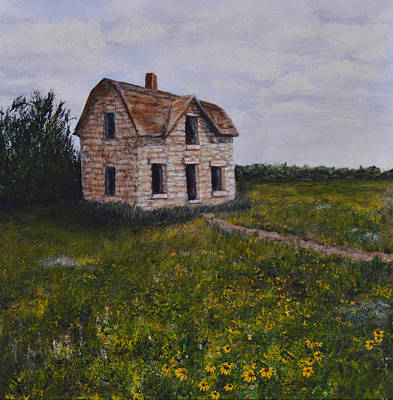 Kansas Stone House Art Print