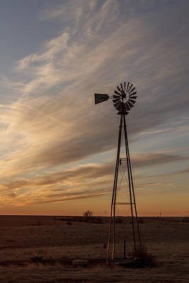 Photograph - Kansas Windmill by Scott Bean