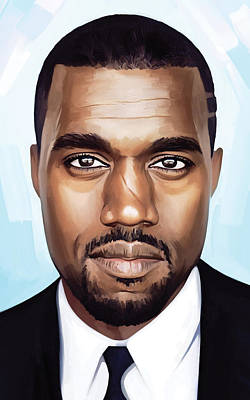 Rapper Painting - Kanye West Artwork by Sheraz A