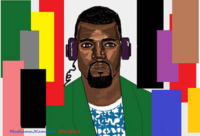Kanye West- Music Not Skin Colours Art Print