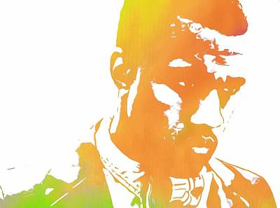 Jay Z Mixed Media - Kanye West Pop Art by Dan Sproul