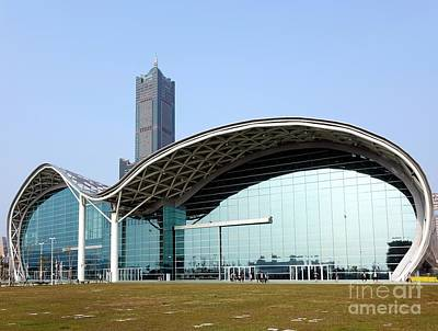 Photograph - Kaohsiung Exhibition Center And Tuntex Tower by Yali Shi