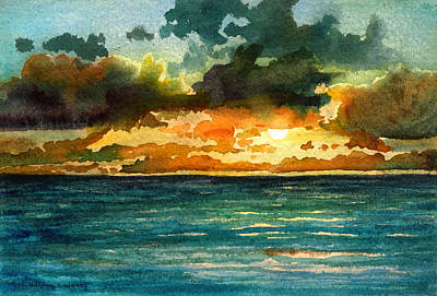 Painting - Kapaa Sunrise by Lynda Hoffman-Snodgrass