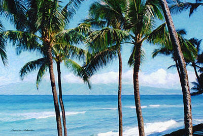 Painting - Kapalua Beach by Susan Schroeder