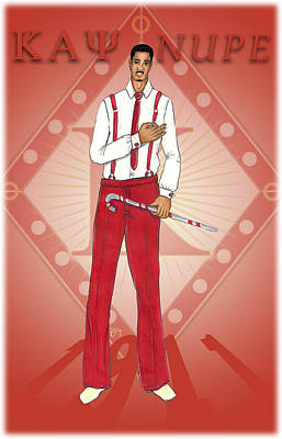 Kappa Alpha Psi Art Print by BFly Designs
