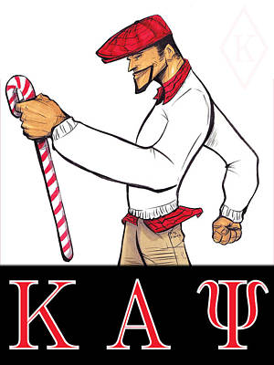 Mixed Media - Kappa Alpha Psi by Tu-Kwon Thomas