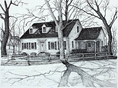 Tn Drawing - Kappa Sigma House Apsu by Janet Felts