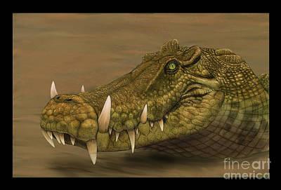 Headshot Digital Art - Kaprosuchus Saharicus Head Detail by Alvaro Rozalen