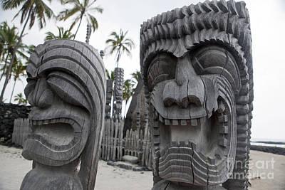 Stellar Interstellar - Kapu Kii wooden tiki statue carvings by Jason O Watson
