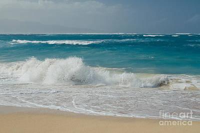 Pop Art Rights Managed Images - Kapukaulua Beach Maui North Shore Hawaii Royalty-Free Image by Sharon Mau