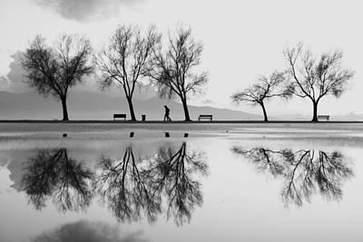 Park Bench Photograph - Kara?a?yaka'dan Bir Yansa?ma by Ali Ayer